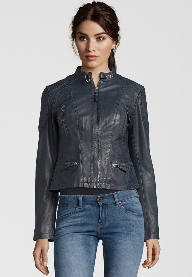 SYDNEY - Leather jacket - navy