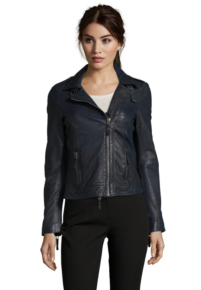 IN TRENDIGEM LOOK - Leather jacket - navy