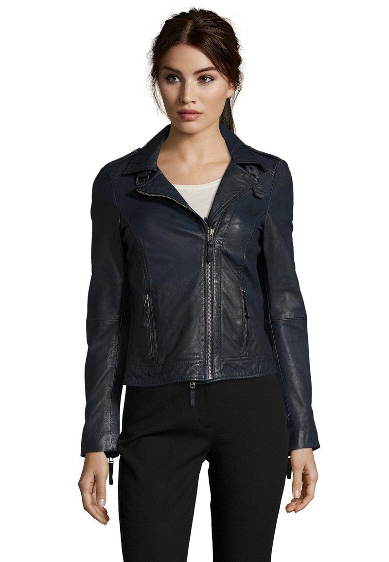 7eleven - IN TRENDIGEM LOOK - Leather jacket - navy