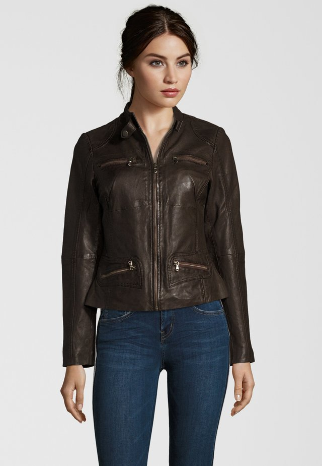 KATERINA - Leather jacket - brown