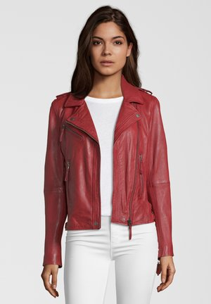 MICHI - Leather jacket - red