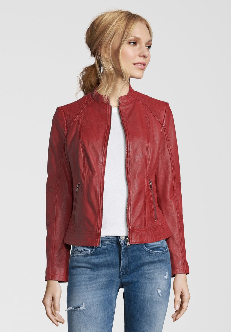 7eleven - CONA - Leather jacket - red