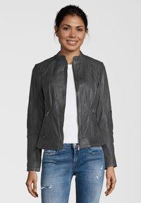 7eleven - CONA - Leather jacket - anthra - 0