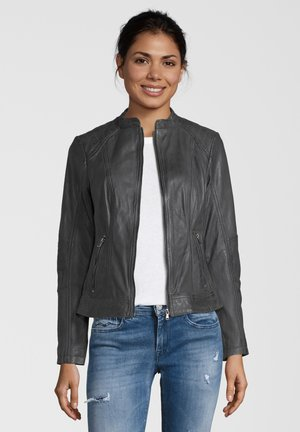 CONA - Leather jacket - anthra