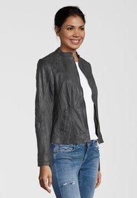 7eleven - CONA - Leather jacket - anthra - 2