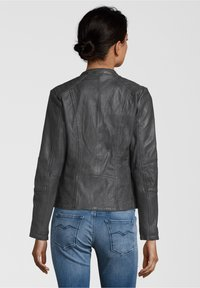 7eleven - CONA - Leather jacket - anthra - 1