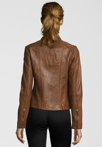 7eleven - PENELOPE - Leather jacket - mocca - 1