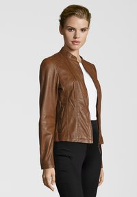 7eleven - PENELOPE - Leather jacket - mocca - 2