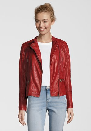 ELENOR - Leather jacket - red
