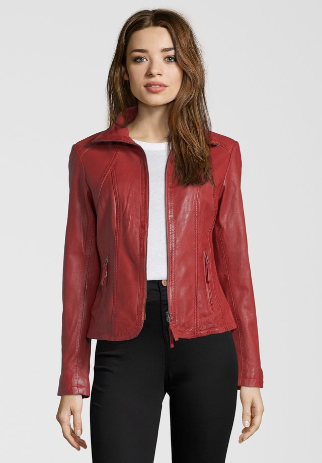 GRACE - Leather jacket - red