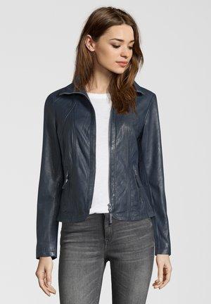 GRACE - Leather jacket - navy