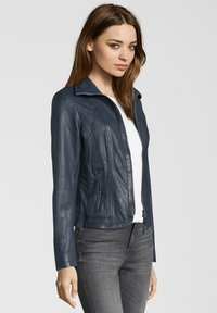 7eleven - GRACE - Leather jacket - navy - 2