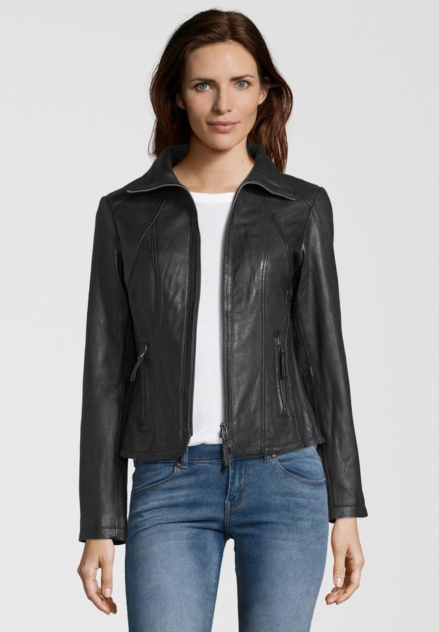 GRACE - Leather jacket - black