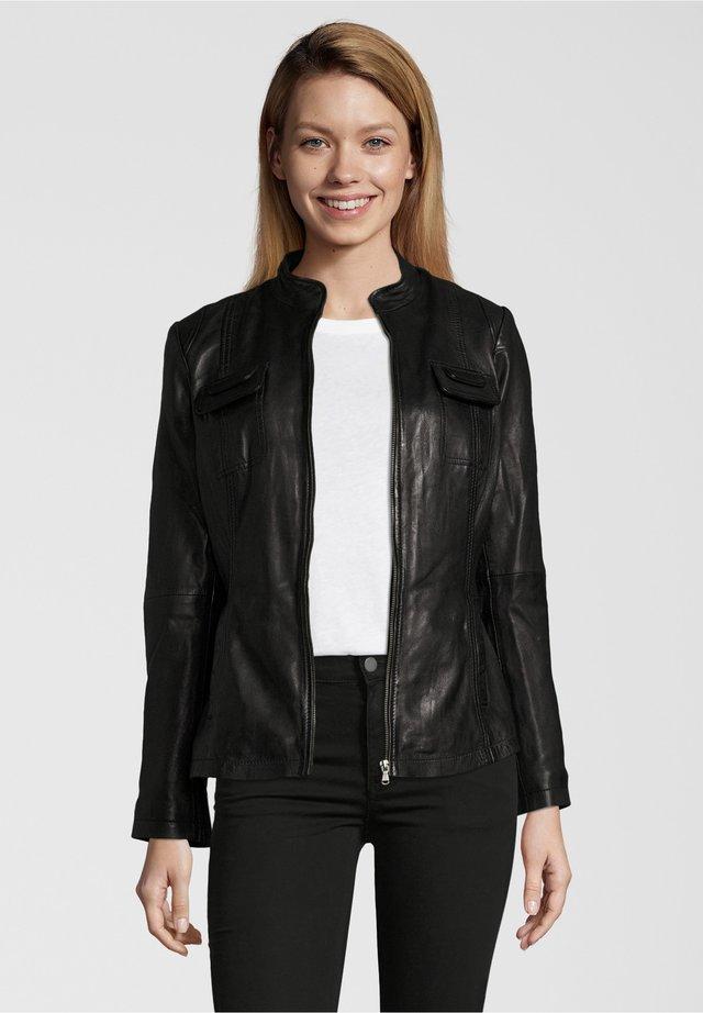 FLAVIA - Leather jacket - black