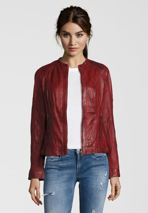 VANESSA - Leather jacket - red