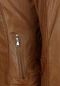 7eleven - ELIZA - Leather jacket - cognac - 3