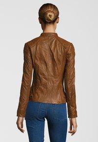 7eleven - ELIZA - Leather jacket - cognac - 1