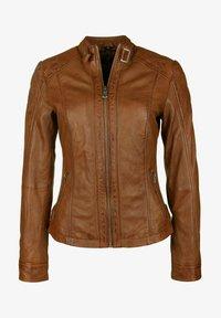 7eleven - ELIZA - Leather jacket - cognac - 4