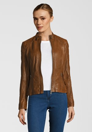 ELIZA - Leather jacket - cognac