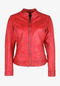 7eleven - ROSALIE - Leather jacket - rot - 4