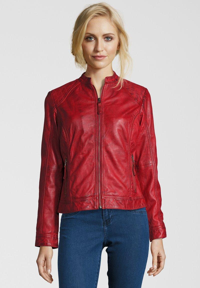 7eleven - ROSALIE - Leather jacket - rot
