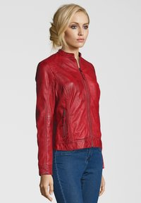 7eleven - ROSALIE - Leather jacket - rot - 2