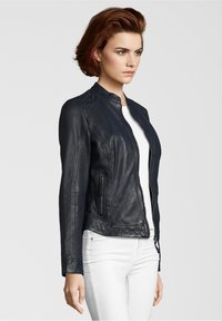 7eleven - ROSALIE - Leather jacket - navy - 2