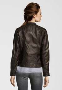 7eleven - ROSALIE - Leather jacket - dunkelbraun - 1