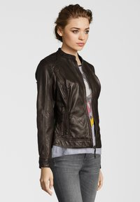 7eleven - ROSALIE - Leather jacket - dunkelbraun - 2