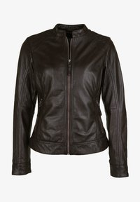 7eleven - ROSALIE - Leather jacket - dunkelbraun - 4