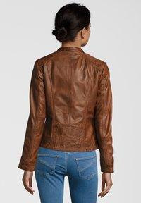 7eleven - ROSALIE - Leather jacket - cognac - 1