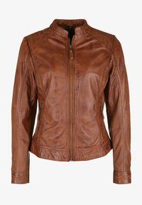 7eleven - ROSALIE - Leather jacket - cognac - 4