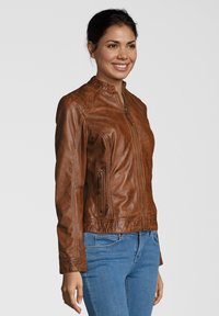 7eleven - ROSALIE - Leather jacket - cognac - 2
