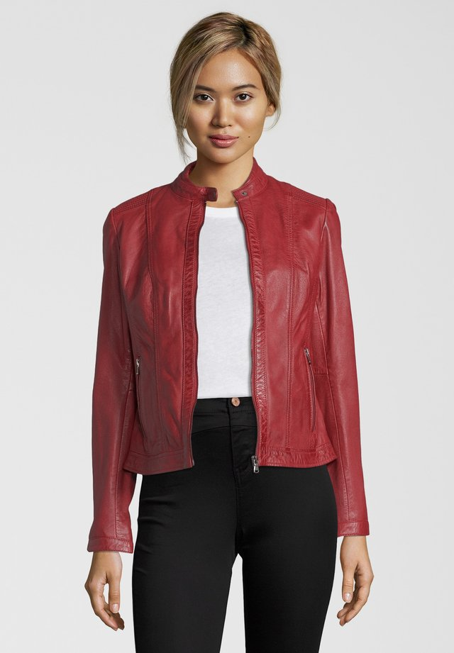 LEDERJACKE URSULA - Leather jacket - red