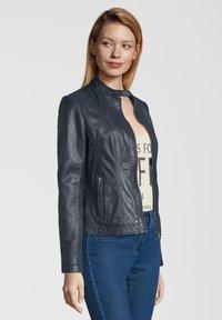 7eleven - URSULA - Leather jacket - navy - 2