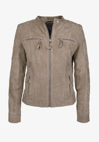 7eleven - STEFF - Leather jacket - sand - 4