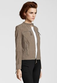 7eleven - STEFF - Leather jacket - sand - 2