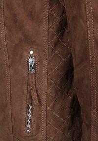 7eleven - STEFF - Leather jacket - brown - 3