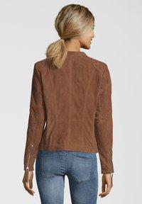 7eleven - STEFF - Leather jacket - brown - 1