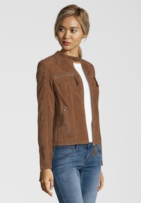 7eleven - STEFF - Leather jacket - brown - 2