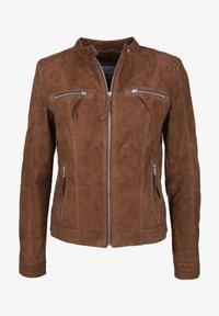 7eleven - STEFF - Leather jacket - brown - 4