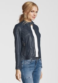 7eleven - TALLY - Leather jacket - blue - 2