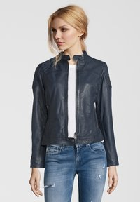 7eleven - TALLY - Leather jacket - blue - 0