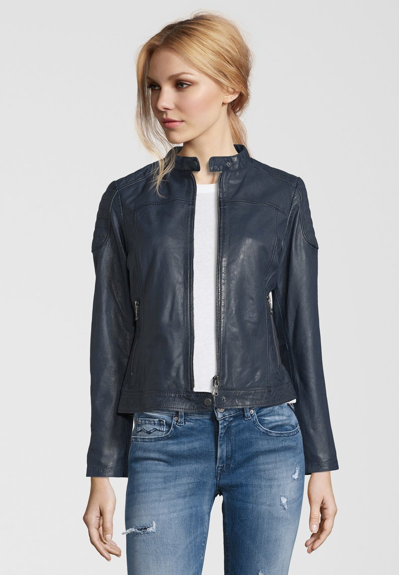 7eleven - TALLY - Leather jacket - blue