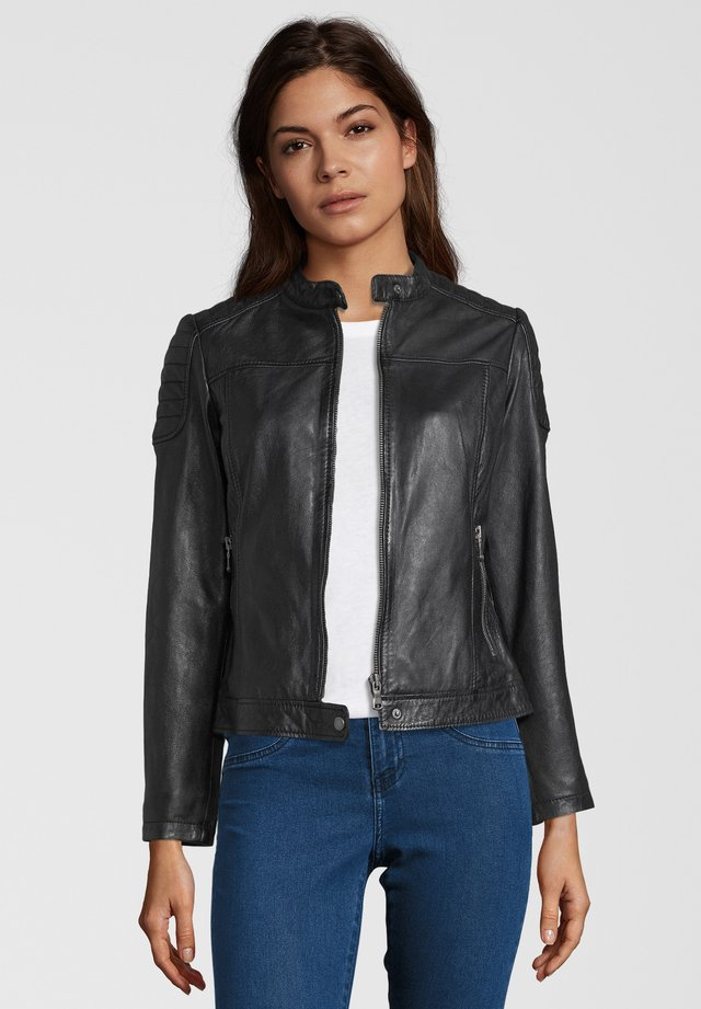 TALLY - Leather jacket - black