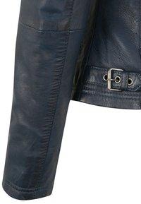 7eleven - LEA - Leather jacket - navy - 4