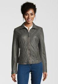 7eleven - AGNES - Leather jacket - grey - 0