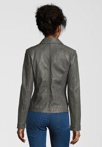 7eleven - AGNES - Leather jacket - grey - 1