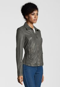 7eleven - AGNES - Leather jacket - grey - 2