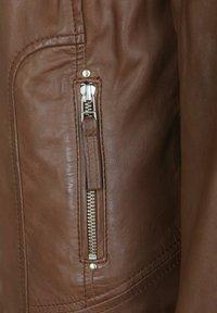 7eleven - AGNES - Leather jacket - brown - 3